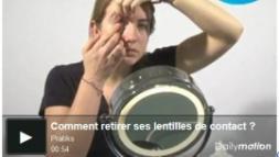 Bien retirer les lentilles