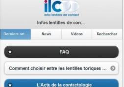 Nouveau : Infos Lentilles de Contact en version mobile !