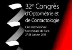 Congrès 2013 d'Optométrie et de Contactologie : dates et programme