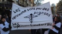 Manifestation des opticiens à Paris : Vidéo