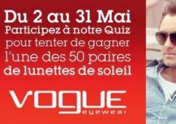 Quiz Facebook: gagnez des lunettes de soleil Vogue Eyewear !