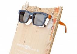 Vuerich B : des lunettes en bois de skateboard recyclé !