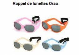 Rappel de lunettes de soleil pour bébé défectueuses