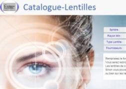 Nouveau: 1ère base de données online des lentilles de contact !