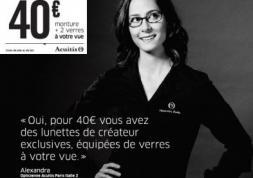 Campagnes publicitaires: Que valent les lunettes à 40 euros ?