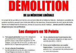 Journée Santé Morte: les médecins mobilisés contre le tiers-payant