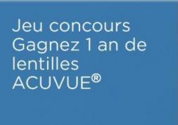 Jeu concours: Gagnez 1 an de lentilles Acuvue !