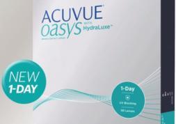 Nouvelle lentilles journalières 1-Day Acuvue Oasys