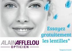 Essai gratuit de lentilles de contact chez les opticiens Afflelou !