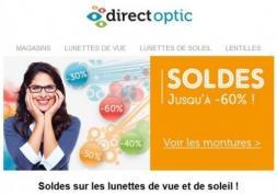 Lunettes en Soldes: Remises jusqu'à - 60 % chez Direct Optic