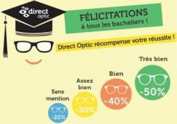 Promo lunettes : Direct Optic récompense les bacheliers 2017 !