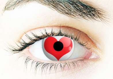 St-Valentin: les lentilles de couleur spciales sduction ! 