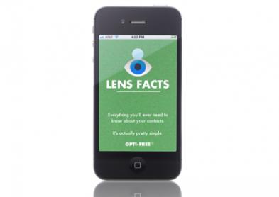 Nouvelle application iPhone pour porteurs de lentilles !