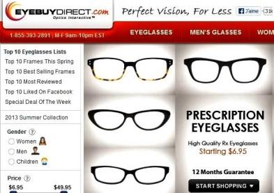 Essilor achète le site e-commerce de lunettes EyeBuyDirect !
