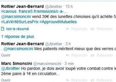 Dr Rottier : nos patients méritent mieux que des verres chinois à 1€