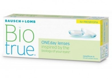 Nouvelle lentille multifocale: Biotrue OneDay for Presbyopia