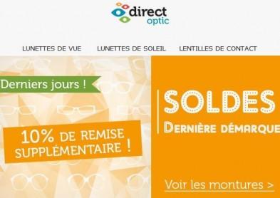 Lunettes en soldes : Code Promo spécial chez Direct Optic !
