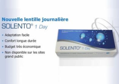 Solento 1 Day: Une innovante lentille journalière biomimétique