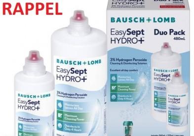 Rappel du produit pour lentilles EasySept Hydro+