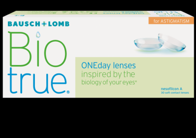 Nouvelle lentille torique : Biotrue Oneday for astigmatism
