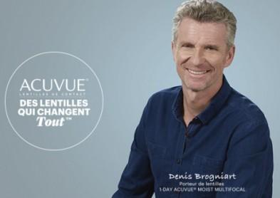 Denis Brogniard en campagne pour les lentilles Acuvue !