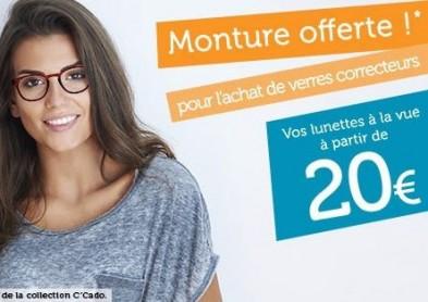 Direct Optic : Montures offertes et lunettes de vue à 20 euros